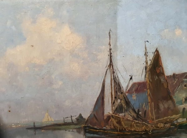 Gemäldereinigung - Segelschiff