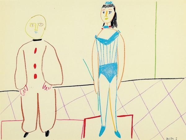 Pablo Picasso - Farblithographie aus Verve Mourlot Paris 1954