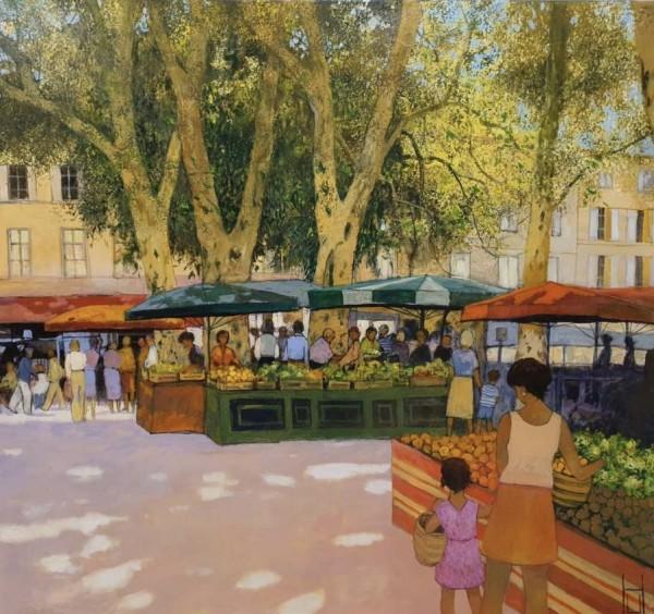 Uwe Herbst - Markt in Avignon