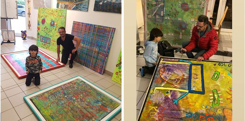 Mikail-Akar-zu-Besuch-in-der-Galerie-Wehr-2