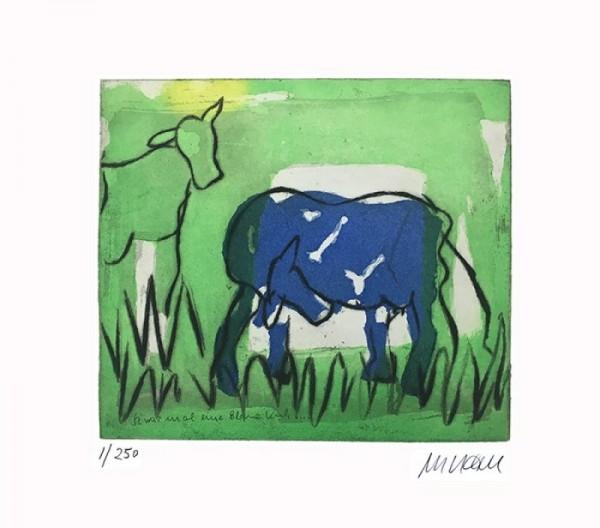 Unikat Armin Mueller-Stahl Blaue Kuh im Grünen