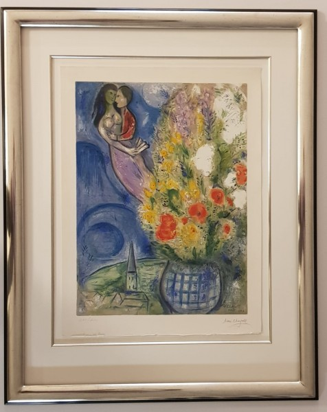 Marc Chagall Original Lithographie im Modellrahmen Köln