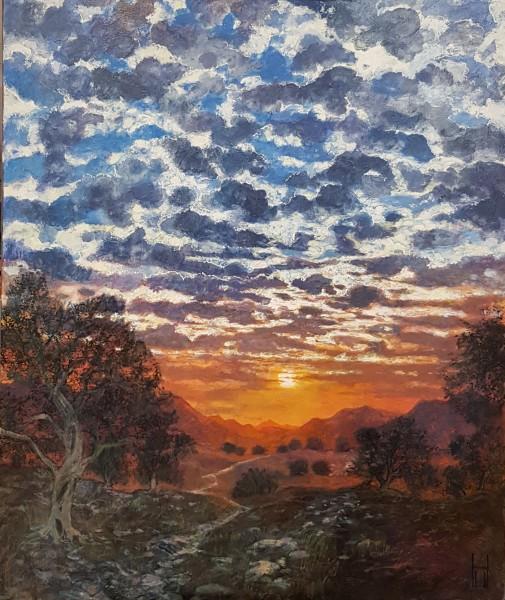 Uwe Herbst Sonnenuntergang bei Saint Rémy en Provence