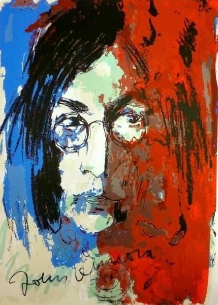 Armin Mueller-Stahl Tribute to John Lennon blau rot