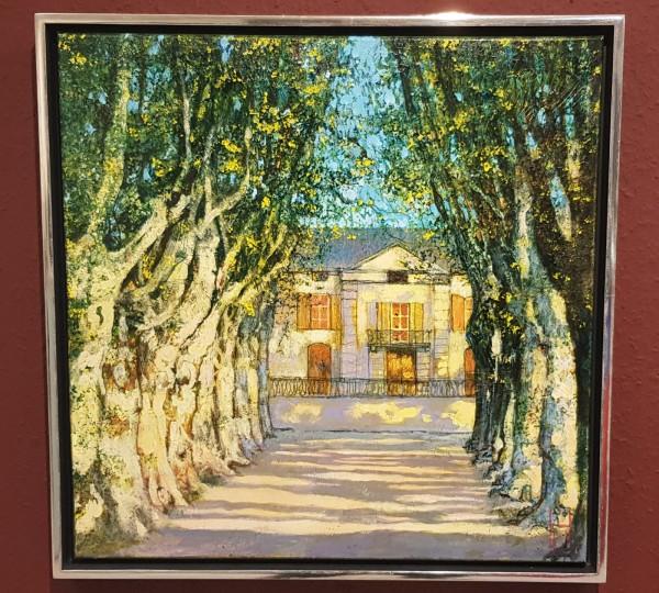 Uwe Herbst Chateau de Roussau mit Rahmen