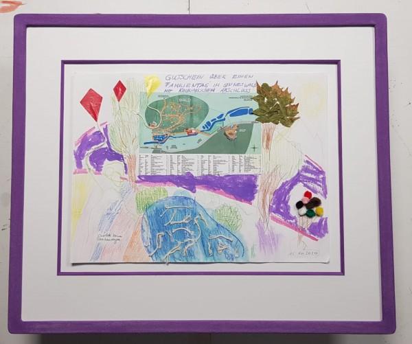 Handgemachter Farbsteinrahmen in lila