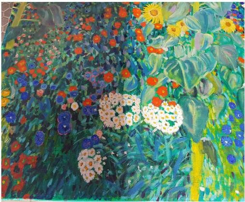 Restauration Gustav Klimt Brandschaden