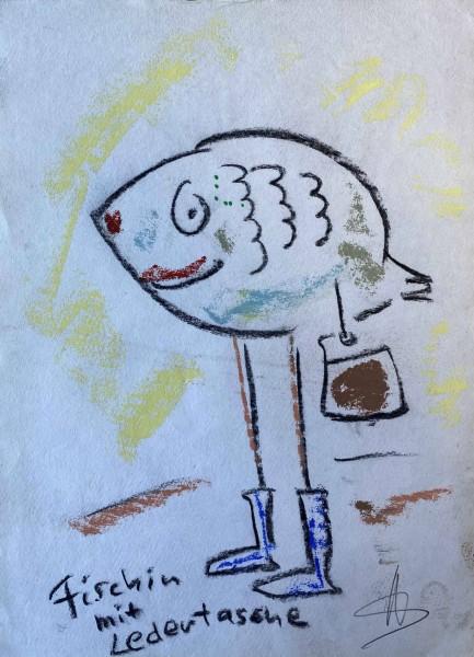 Helge Schneider - Fischen mit Ledertasche
