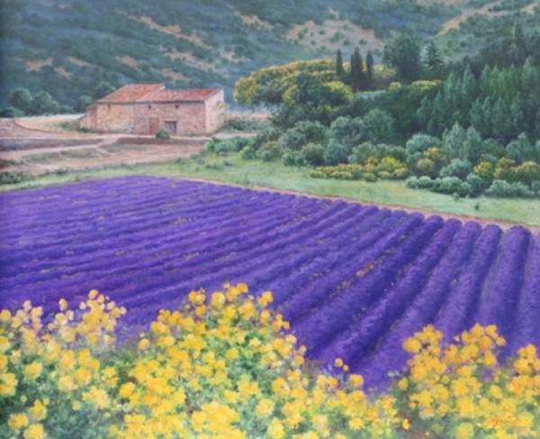 Eleonore Gagel Lavendel mit Ginster