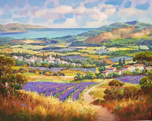 "Jean-Claude Picard ""Lavendelfeld in der Toskana"""