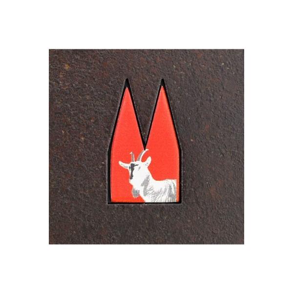 Dom Einsatz Helmut Brands Geißbock Art-Deco rot
