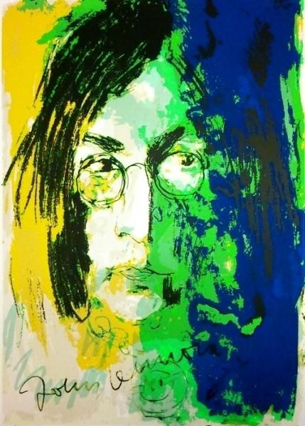 Armin Mueller-Stahl Tribute to John Lennon gelb blau