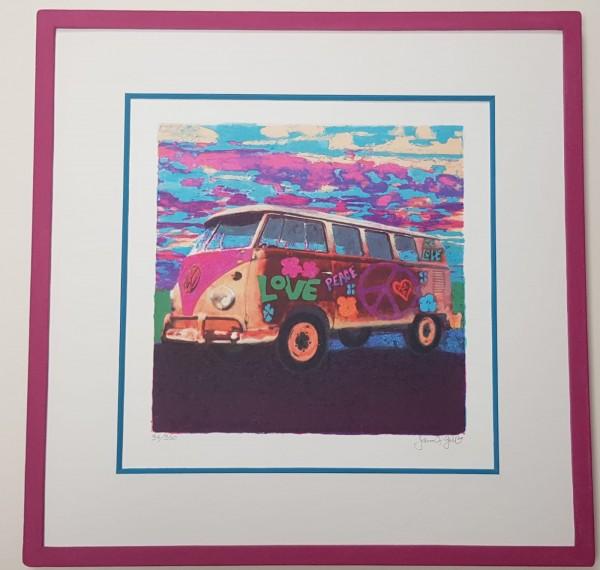 Steinmodellrahmen für Mini Hippie Bus