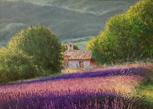 Eleonore Gagel - Kapelle im Lavendelfeld