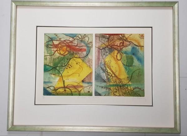 Rahmen-Beispiel für Gemälde von René Carcan
