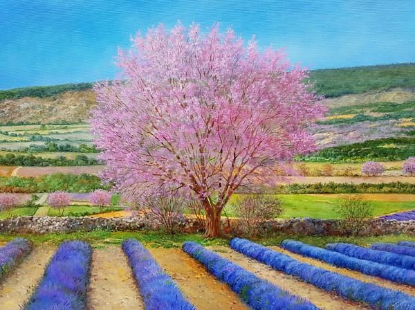 """Eleonore Gagel """"Mandelbaum mit Lavendel"""""""
