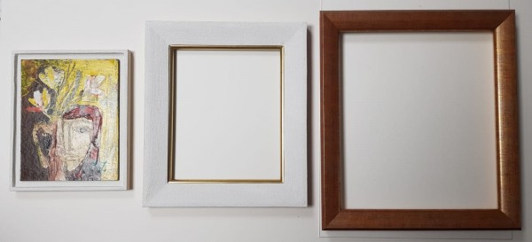 Systemrahmen in der Galerie Wehr