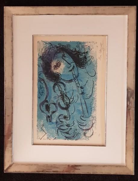 Original Farblithographie von Marc Chagall im Modellrahmen