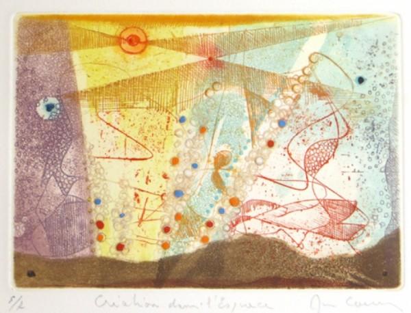 René Carcan Le creations dans l'espace