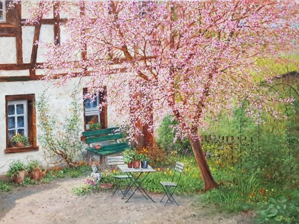Eleonore Gagel - Kirchblüten und Fachwerkhaus