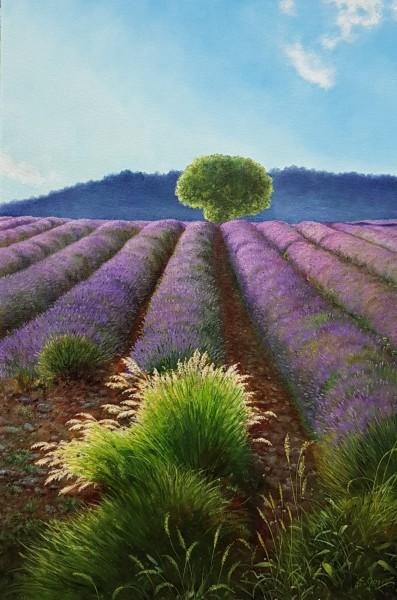 Eleonore Gagel - Lavendel mit Gras